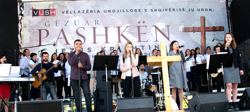 Albanian evangelical community gathered to celebrate Easter