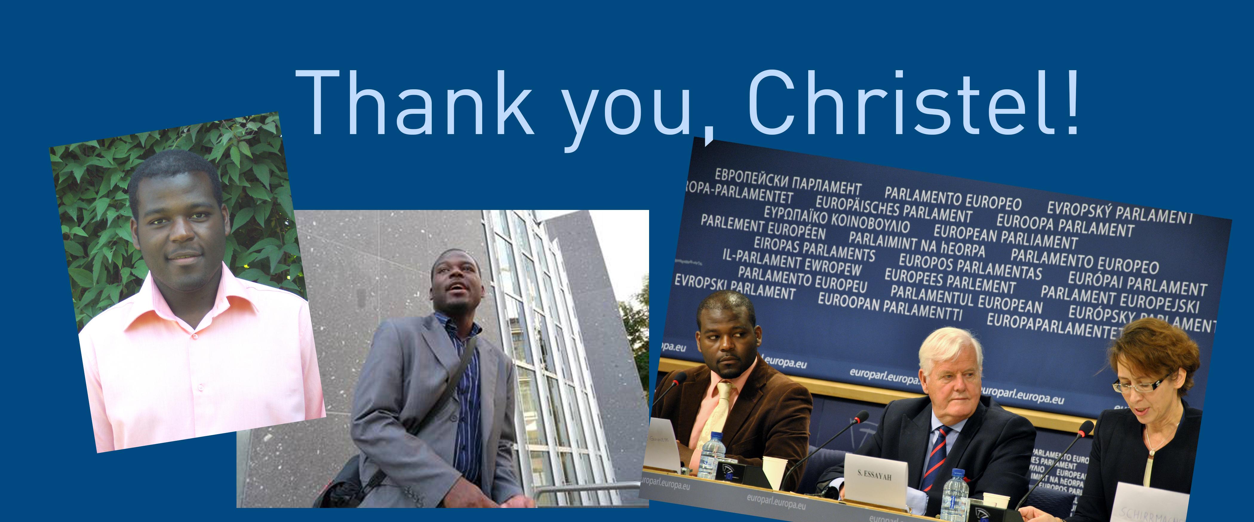 Thank you, Christel!