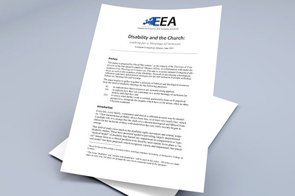New EEA resource: Disability and the Church – Looking for a Theology of Inclusion