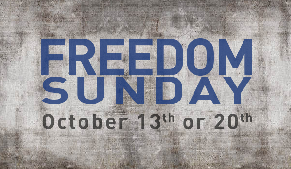 Freedom Sunday is coming