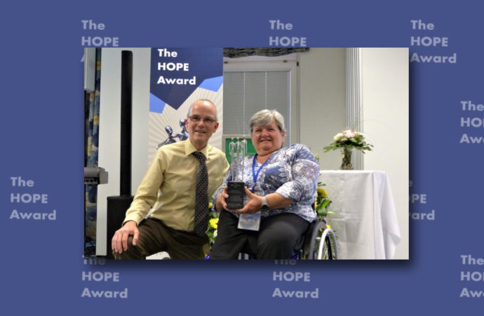 Press Release: HOPE Award for Disability Network-Chair Thérèse Swinters  and launch of EEA paper: Disability and the Church