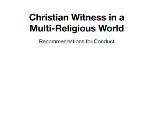Christian Witness in a Multi-Religious World
