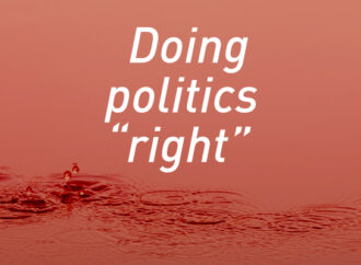 "Doing politics ""right"""