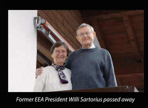 Former EEA President Willi Sartorius passed away