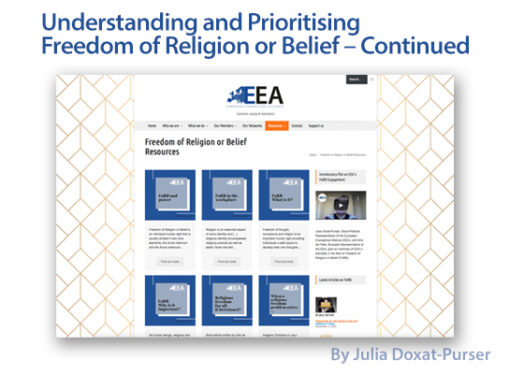 Understanding and Prioritising Freedom of Religion or Belief – Continued