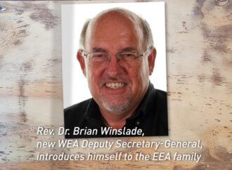 Introducing Rev. Dr. Brian Winslade, new WEA Deputy Secretary-General