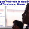 EPRID Webinar – The impact of FoRB violations on women